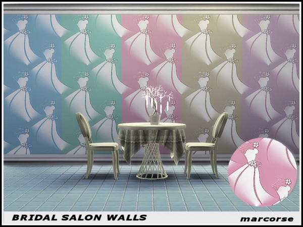 The Sims Resource: Bridal Salon Walls by marcorse