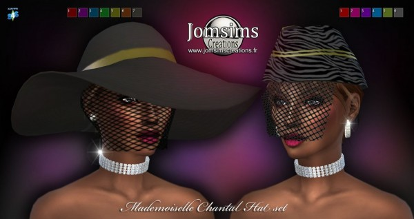 Jom Sims Creations: Mademoiselle Chantal Hat Set