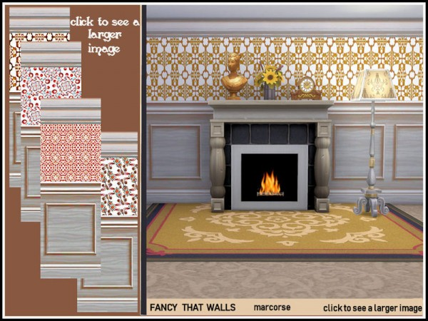 The Sims Resource: Fancy That Walls by marcorse