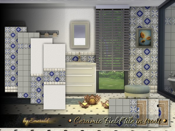 The Sims Resource: Ceramic Field Tile in trout by emerald