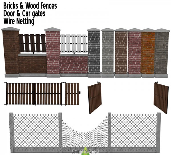 Around The Sims 4: Home fence and gates