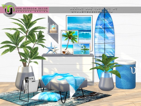 The Sims Resource: Erin Bedroom Decor by NynaeveDesign