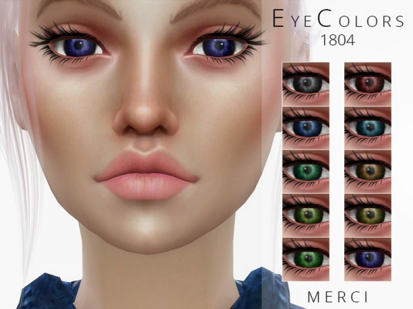 The Sims Resource: Eyecolors 201804 by Merci