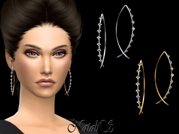 The Sims Resource: Fish shaped earrings with crystals by NataliS