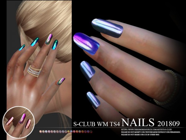 The Sims Resource: Nails 201809 by S Club
