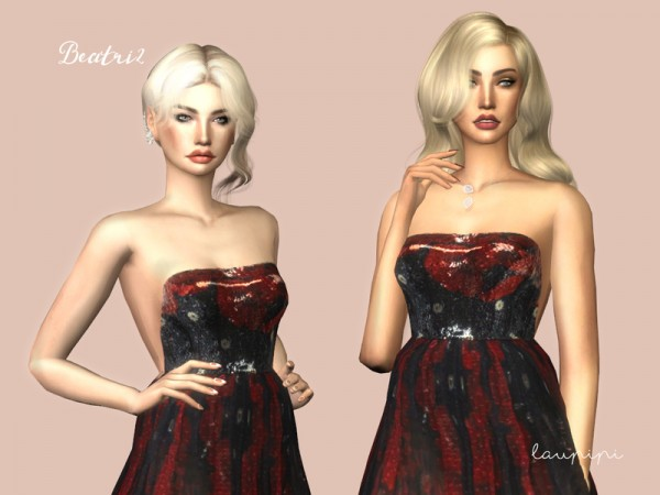 The Sims Resource: Beatriz dress by laupipi