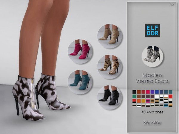 Elfdor: Madlen Versec Boots Recolor by MJ95