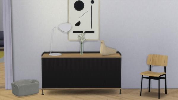 Meinkatz Creations: Enfold Sidebord Low by Muuto
