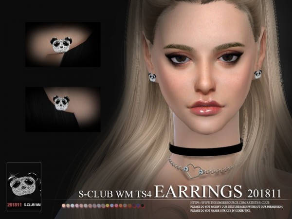 The Sims Resource: Earrings F 201811 by S Club