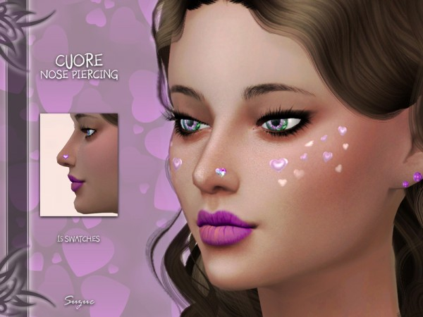 The Sims Resource: Cuore Nose Piercing by Suzue