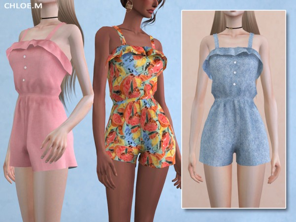 The Sims Resource: Jumpsuit with Falbala by ChloeMMM