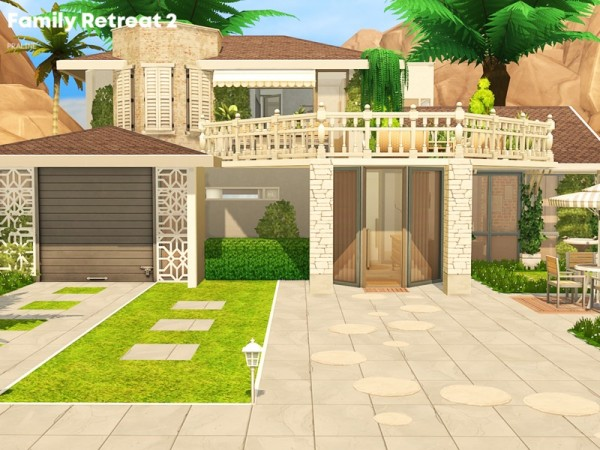 The Sims Resource: Family Retreat 2 house by Pralinesims