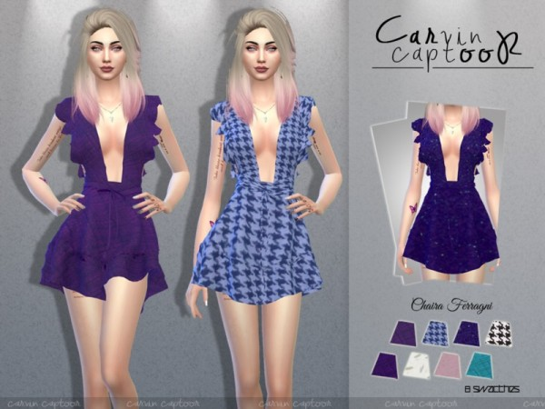 The Sims Resource: Chaira dress by carvin captoor