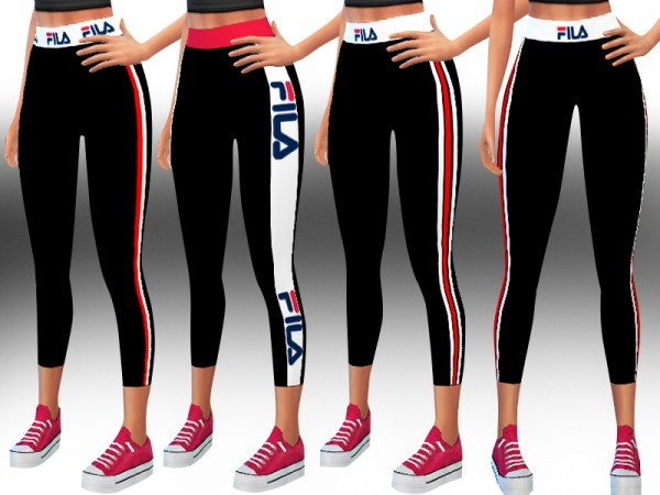 The Sims Resource: Athletic and Casual Leggings by Saliwa