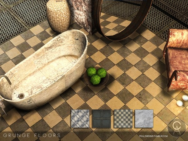 The Sims Resource: Grunge Floors by Pralinesims