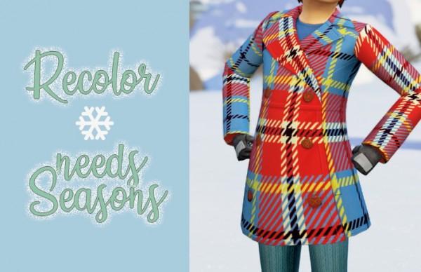 Miss Ruby Bird: Seasons Kids' Pea Coat Recolor