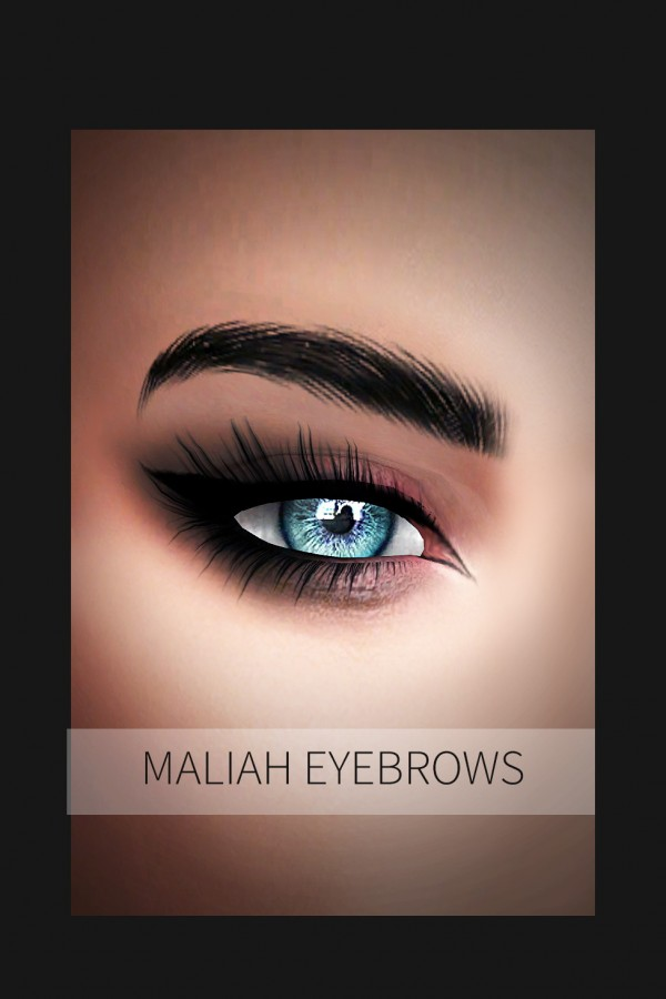 Frost Sims 4: Maliah brows