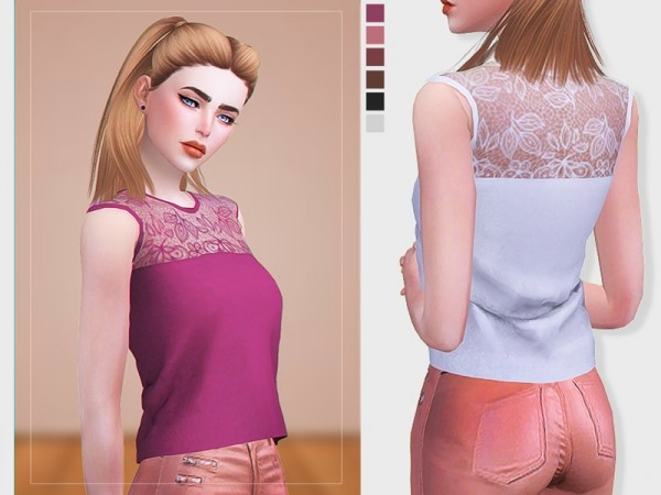 The Sims Resource: Lace Top by Screaming Mustard