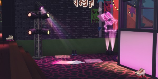 Picture Amoebae: Skate, rattle and roll nightclub