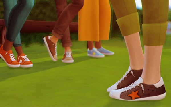 Miss Ruby Bird: Starlord's Golden Goose Sneakers Recolor