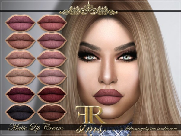 The Sims Resource: Matte Lip Cream by FashionRoyaltySims