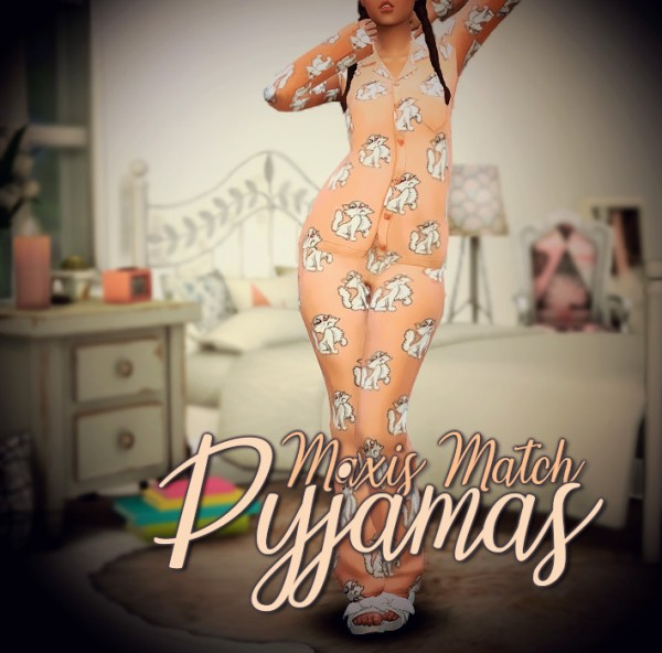 Miss Ruby Bird: Maxis Match Pajamas