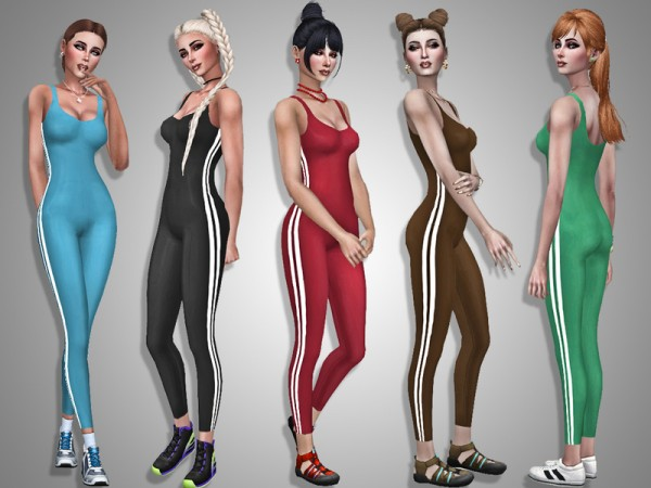 The Sims Resource: Sportwear jumpsuit by Simalicious
