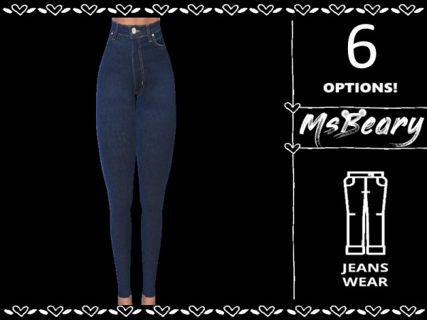 The Sims Resource: Ripped Denim Jeans by MsBeary