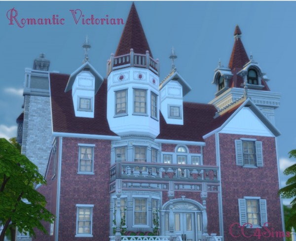 CC4Sims: Romantic Victorian house