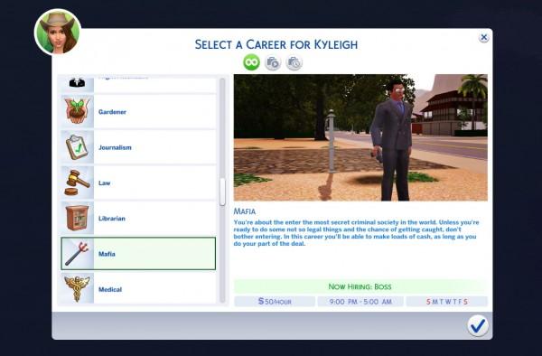 Mod The Sims: Mafia Career by tumblrpotato