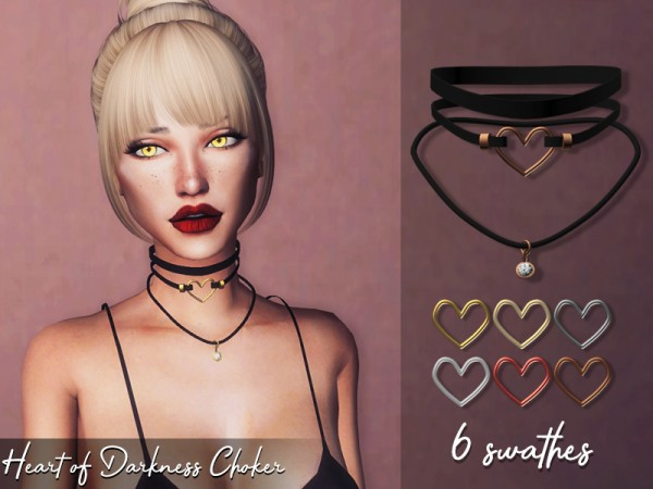 The Sims Resource: Heart of Darkness Choker by Genius666