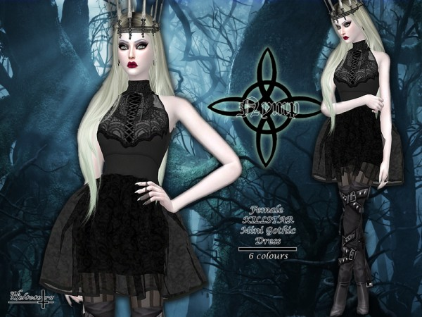 The Sims Resource Nymp Sheer Gothic Dress By Helsoseira