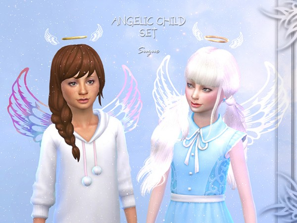 The Sims Resource: Angelic Child Set by Suzue