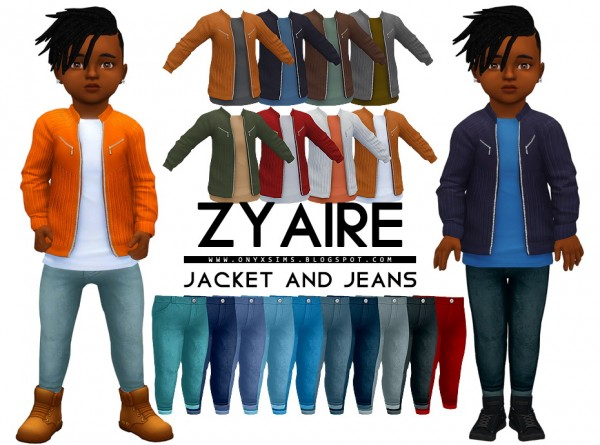 Onyx Sims: Zyaire Jacket and Jeans