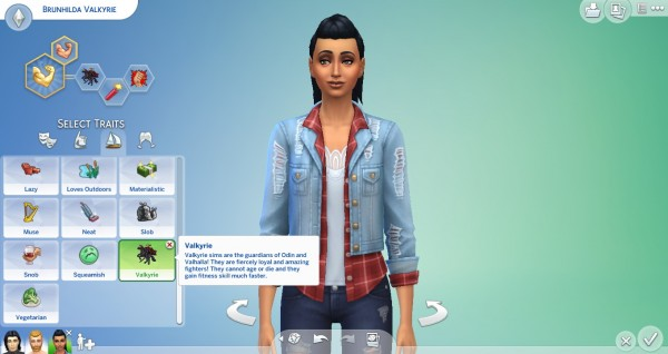 Mod The Sims: Valkyrie Trait by TheLovelyGameryt