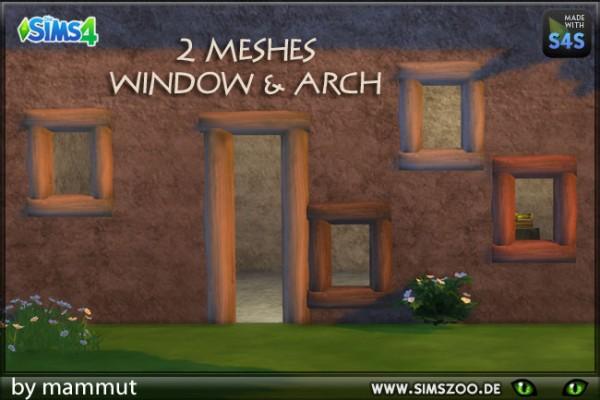 Blackys Sims 4 Zoo: Window Arch Tree Stumps by mammut