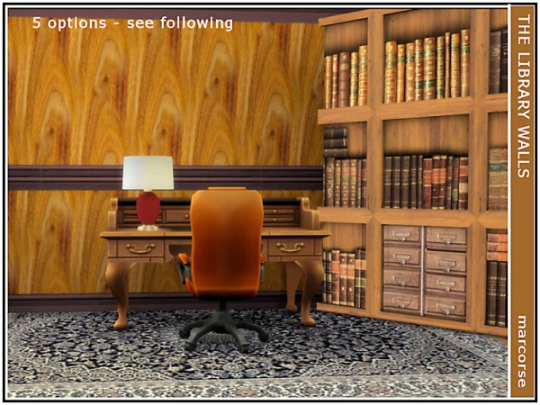 The Sims Resource: The Library Walls by marcorse