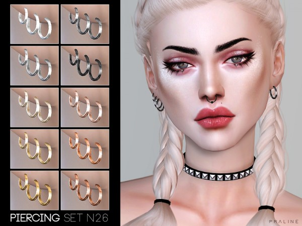 The Sims Resource: Piercing Set N26 by Pralinesims