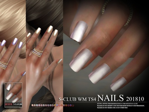The Sims Resource: Nails 201810 by S Club