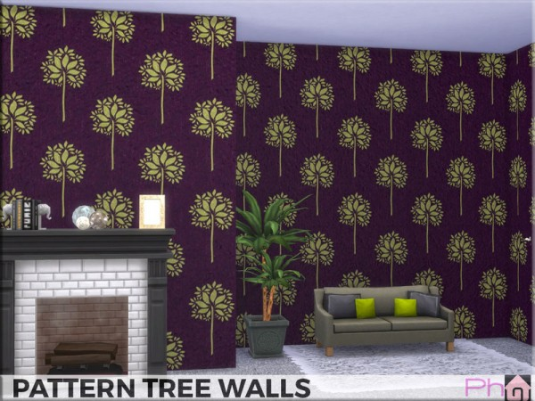 The Sims Resource: Pattern Tree Walls by Pinkfizzzzz