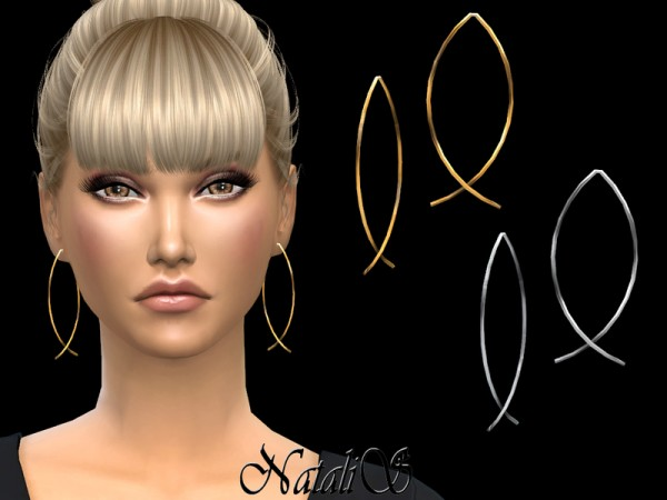 The Sims Resource: Fish shaped wire earrings by NataliS