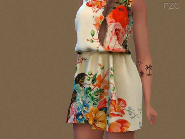 The Sims Resource: 2 Summer Little Tattoos by Pinkzombiecupcakes