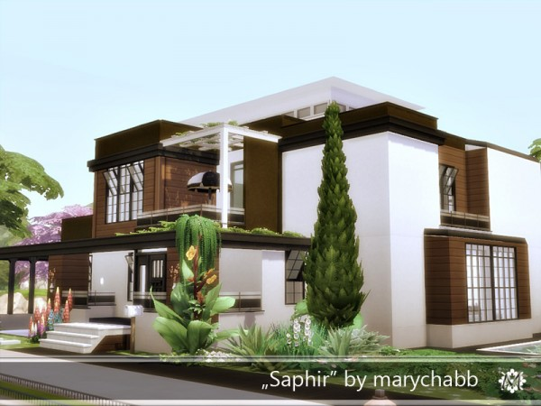 The Sims Resource: Saphir house by marychabb