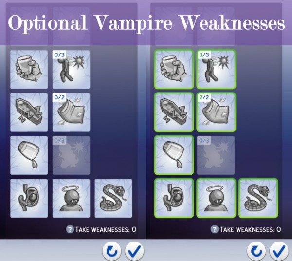 Mod The Sims: Optional Vampire Weaknesses by nyandesu