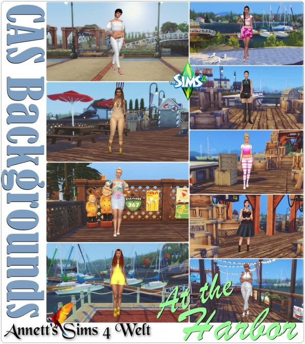 Annett`s Sims 4 Welt: CAS Backgrounds At The Harbor