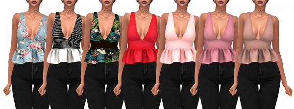 Frost Sims 4: Sofia top