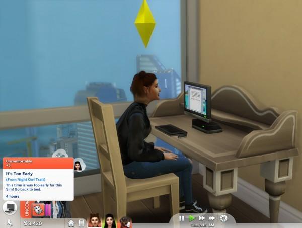Mod The Sims: Night Owl Trait by Twilightsims