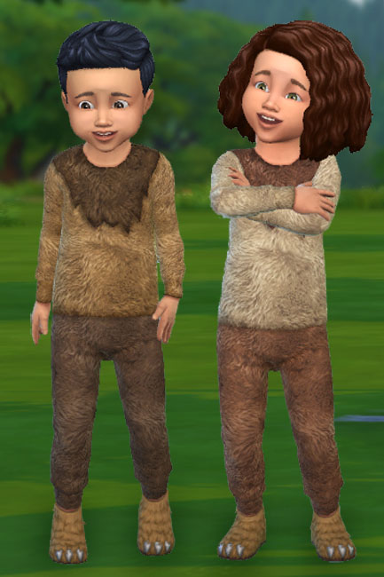 Blackys Sims 4 Zoo: Todd Top and Pants Fur 3 by mammut