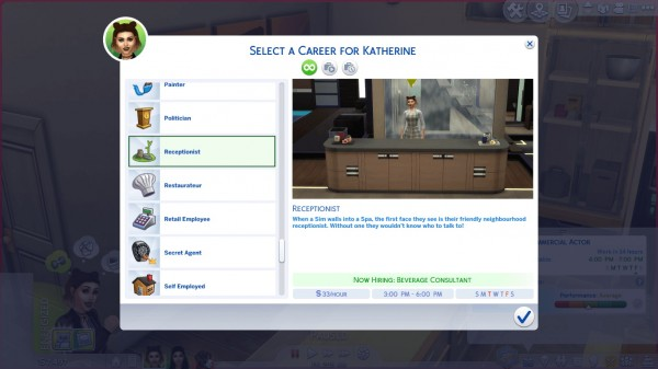 Mod The Sims: Part Time Careers by Twilightsims