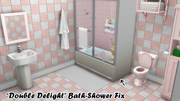 Simsworkshop: Double DelightShower Tub Fix by Crystal Moore